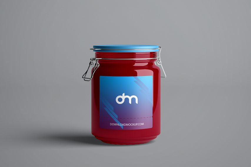 Jam Glass Jar Mockup Template