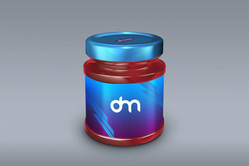 Free Glass Jar Packaging Mockup