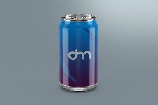 Free Soda Can Mockup Template