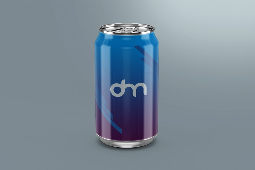 Free Soda Can Mockup Template