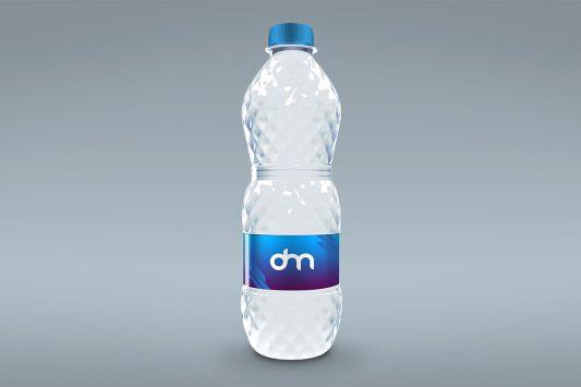 Water Bottle Mockup Template