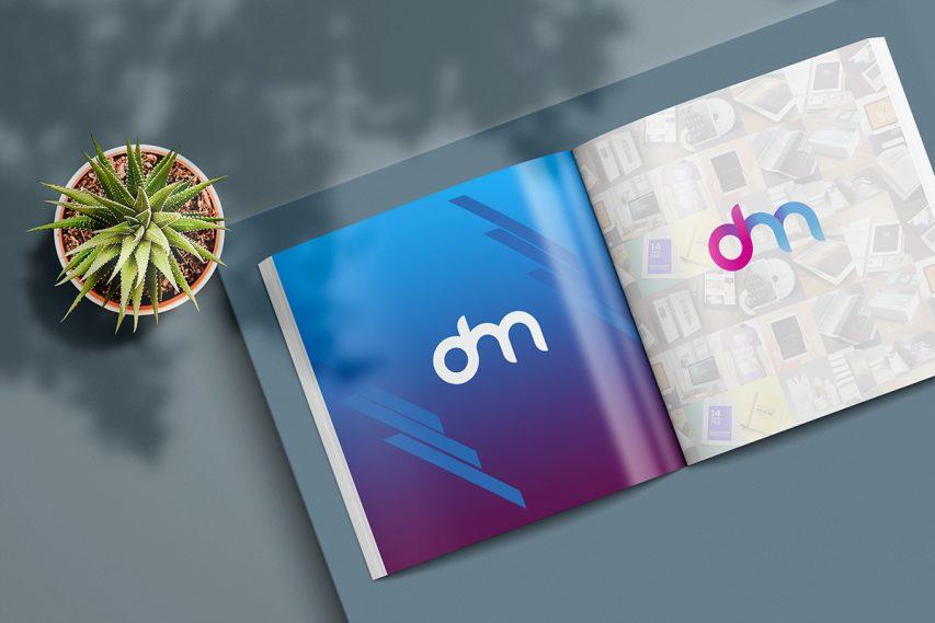 Open Square Magazine or Catalogue Mockup