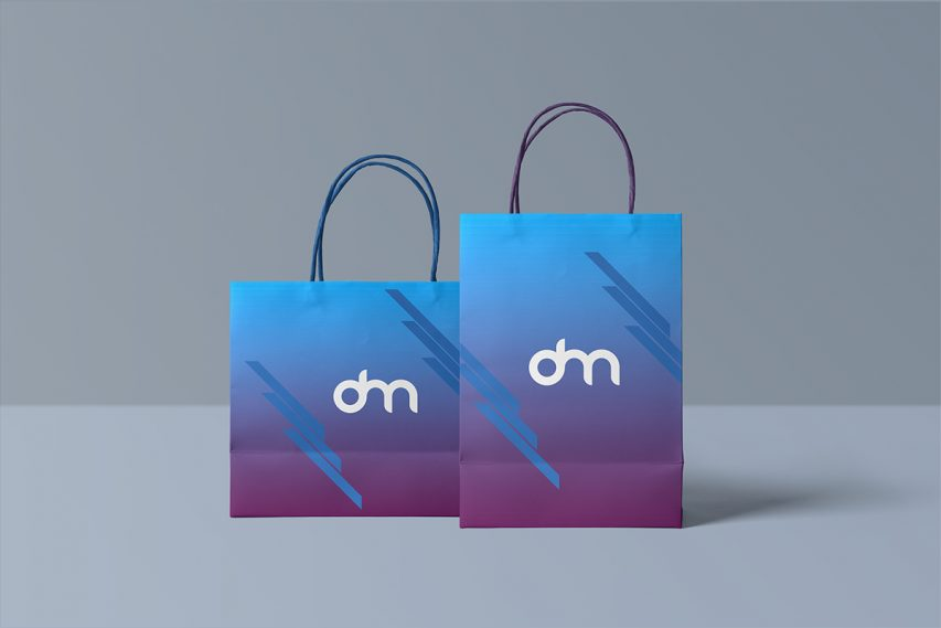 Paper Shopping Bag Mockup Template