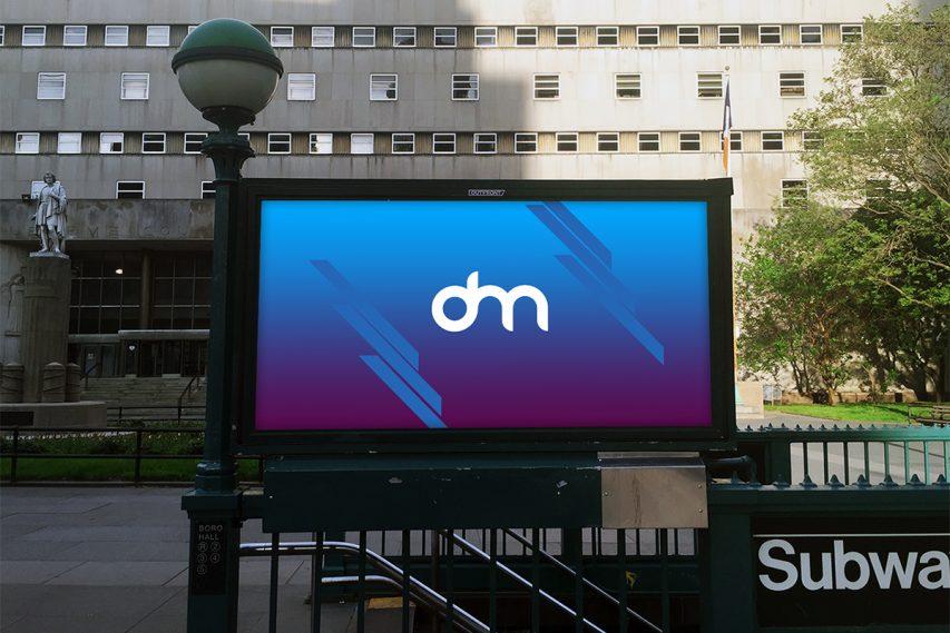 Subway Billboard Mockup Template