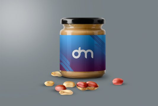 Peanut Butter Jar Mockup Template