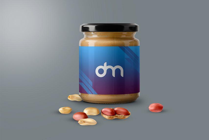 Peanut Butter Jar Mockup Template