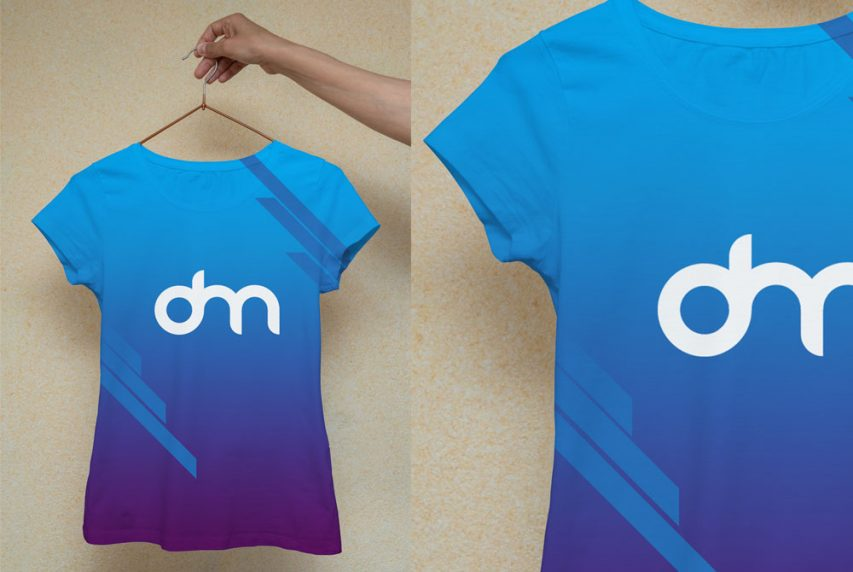 Woman T-Shirt Mockup Template
