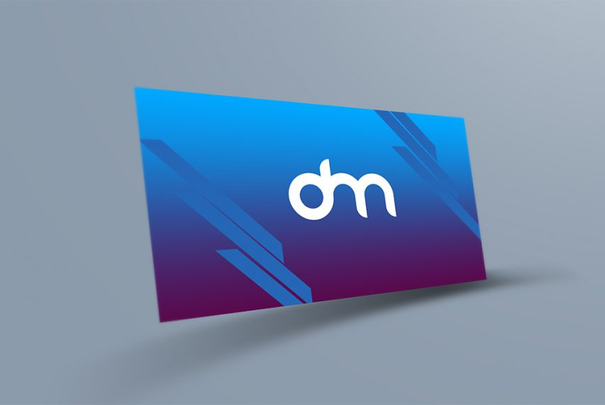 Floating Business Card Mockup Template