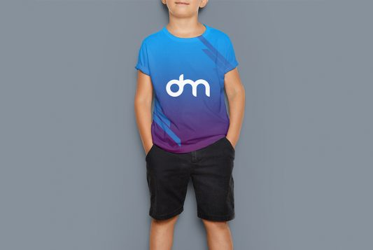 Kids T-Shirt Mockup PSD Template