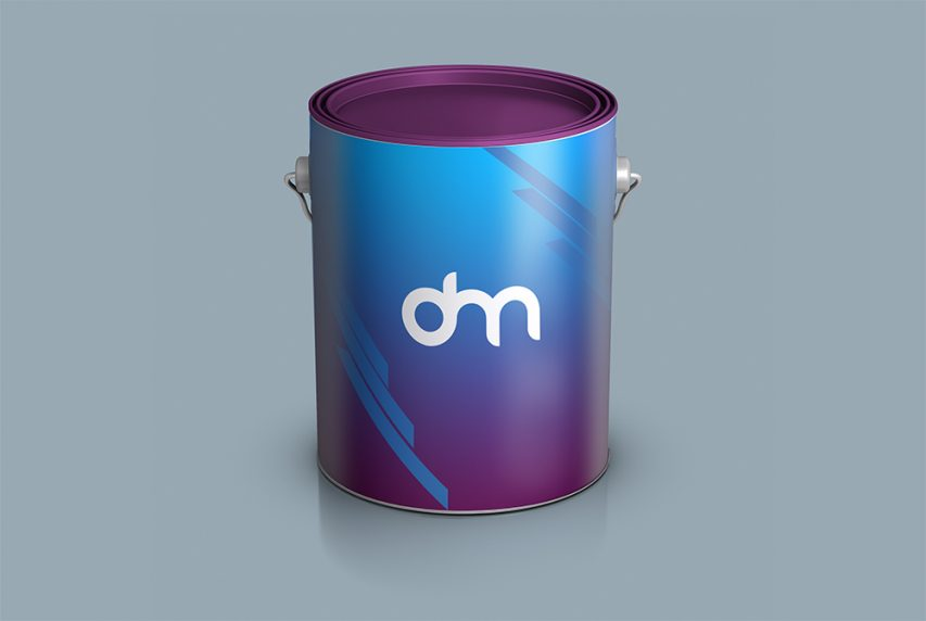 Paint Bucket Branding Mockup
