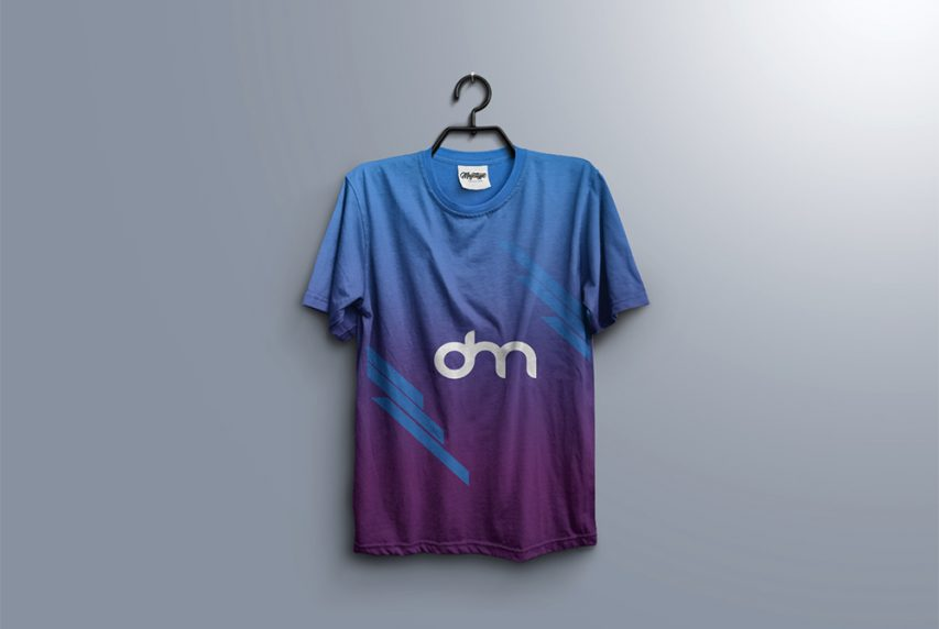 T-Shirt on Hanger Mockup Template