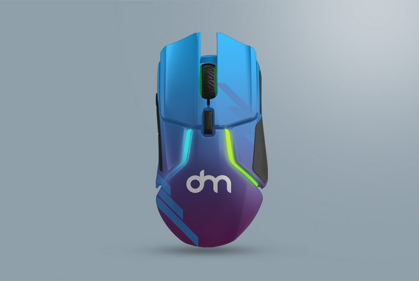 Wireless Gaming Mouse Mockup PSD