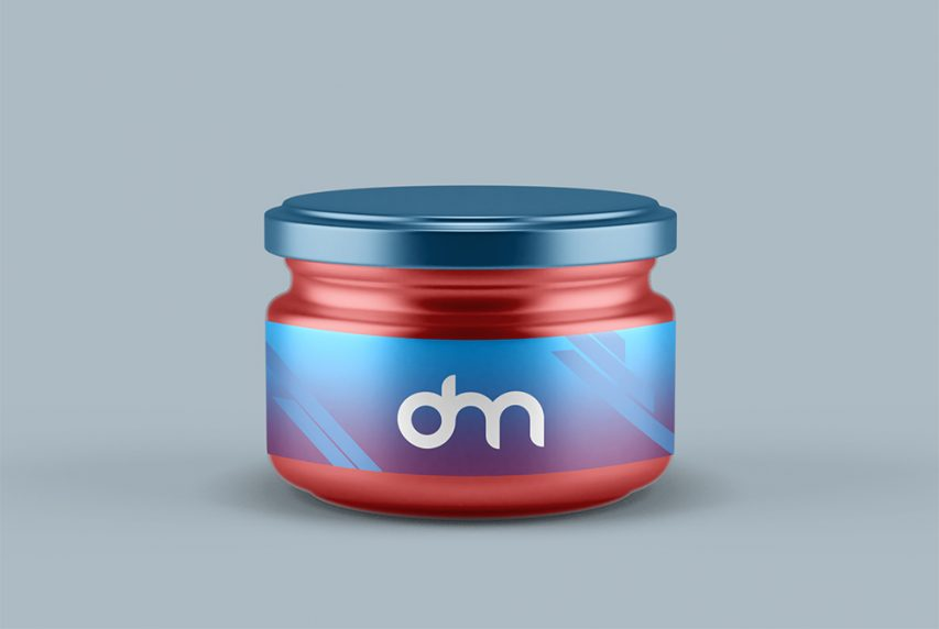 Small Glass Jar Mockup Template