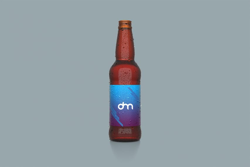 Beer Bottle Label Design Mockup