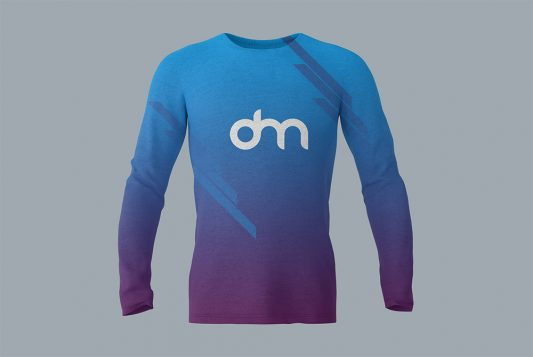 Long Sleeve T-Shirt Mockup Template