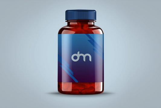 Pills Bottle Label Mockup