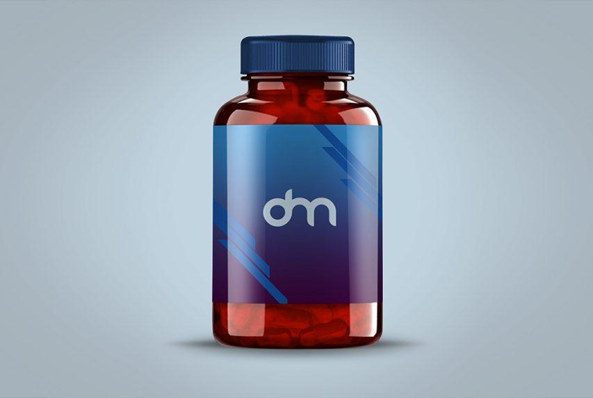 Pills Bottle Label Mockup