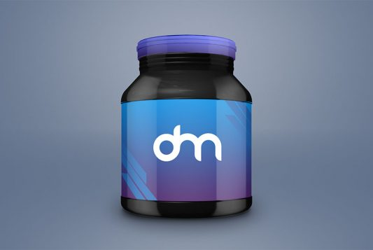 Supplement Jar Branding Mockup