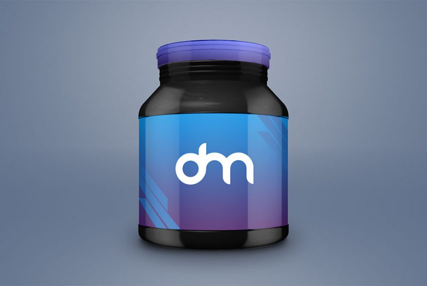 Supplement Jar Branding Mockup