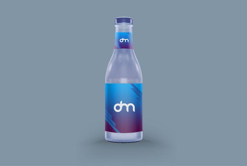 Glass Bottle Label Design Mockup