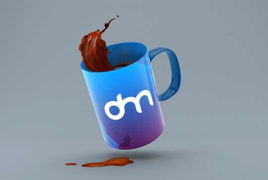 Coffee Mug Splash Mockup